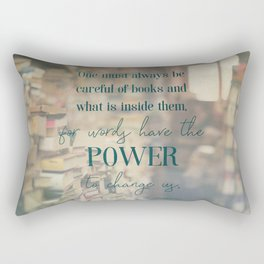 The power of books - Book Quote Collection Rectangular Pillow