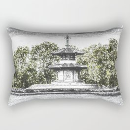 The Pagoda in the snow Rectangular Pillow