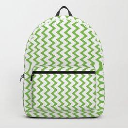 Green Chevron Design Backpack