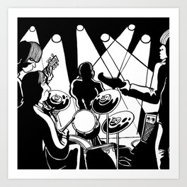 Rolling at the Marquee Club ( July 12th, 1962) Art Print