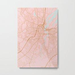 Belfast map, Northern Ireland Metal Print