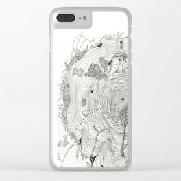 Wood Hermit Clear iPhone Case