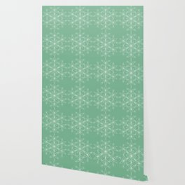 Acapulco Green Geometric Floral Wallpaper