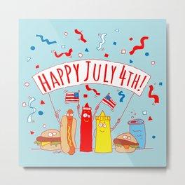 Happy July Fourth Picnic Metal Print