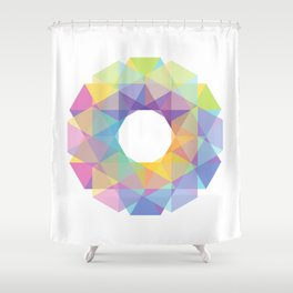 Fig. 036 Colorful Circle Shower Curtain