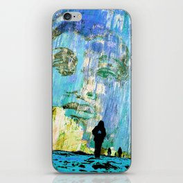 Castaneda and the kids - blue iPhone Skin