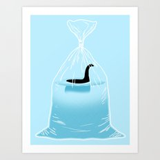Loch Ness Golden Fish Art Print