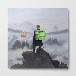 Wanderer above the Sea of Fog - Pop Edi Metal Print