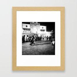 Azteca en el Caribe Framed Art Print