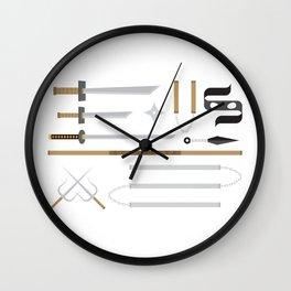 Ninja Weapons Wall Clock