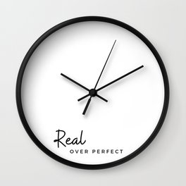 Real over perfect Wall Clock