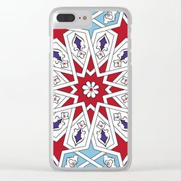 Tile Art Clear iPhone Case