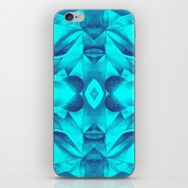 Turquoise Geometric Watercolor iPhone Skin