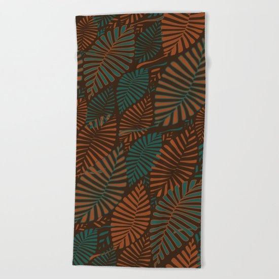 ORGANIC LEAVES Beach Towel