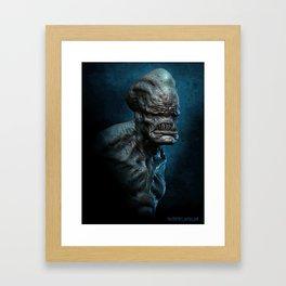 Trihead Monster Framed Art Print