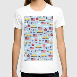 Made in the USA New York City icons pattern T-shirt