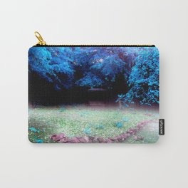 Enchanted Park Turquoise Carry-All Pouch
