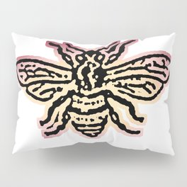 Save The Bees, Linocut - Sales Donated To NAPPC Pillow Sham