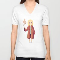 tenenbaums V-neck T-shirts featuring Margot by Nan Lawson