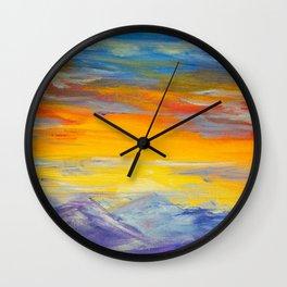 Sunset Meditations of Peace by Ainé Daveéd Wall Clock