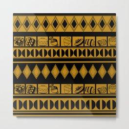 African vases pattern Metal Print