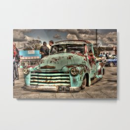 Rusty Chevrolet HDR Metal Print