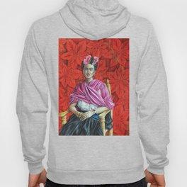 Frida Kahlo with Poinsettias Hoody
