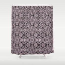Wool Lace Bohemian Pattern Fiber Texture Taupe Mauve Shower Curtain