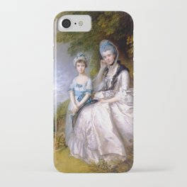 """Thomas Gainsborough """"Hester, Countess of Sussex, and Her Daughter, Lady Barbara Yelverton"""" iPhone Case"""