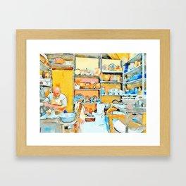 Ceramist craftsman Framed Art Print
