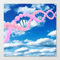 dna Canvas Prints featuring DNA by REINE Mihtla