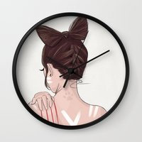 catwoman Wall Clocks featuring Catwoman by Chelsea Hantken