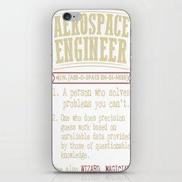 Aerospace Engineer Funny Dictionary Term iPhone Skin