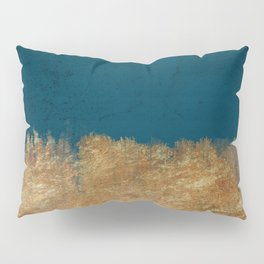 Denim Gold Paint Pillow Sham