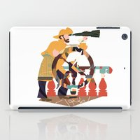 captain silva iPad Cases featuring Captain by Design4u Studio