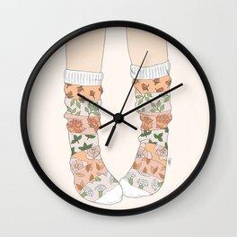 Spring Socks Wall Clock