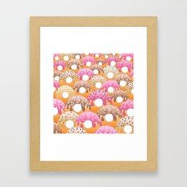 Donuts Wanderlust Framed Art Print