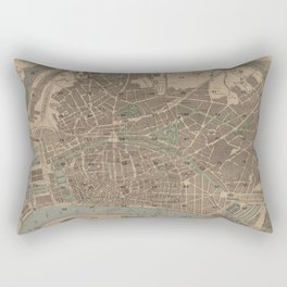 Vintage Map of Antwerp Belgium (1871) Rectangular Pillow