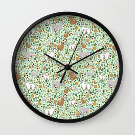 Cute Llamas Wall Clock