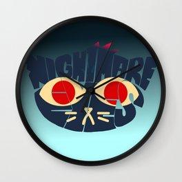 Mae - Nightmare eyes Wall Clock