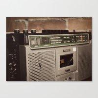 radio Canvas Prints featuring Radio by Lina Krueck