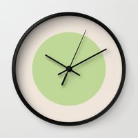 dot Wall Clocks featuring Dot. by Shivani C