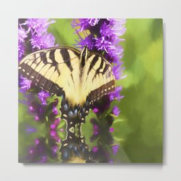 Summertime With Monarch Butterfly Metal Print