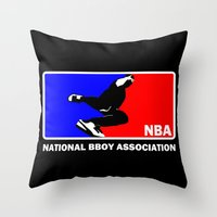 nba Throw Pillows featuring NBA National Bboy Association by Funky House