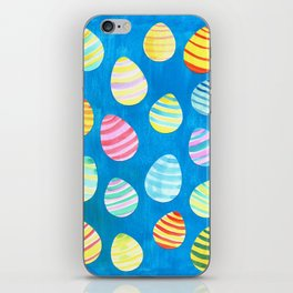 Easter Egg Watercolor Pattern -  Blue iPhone Skin