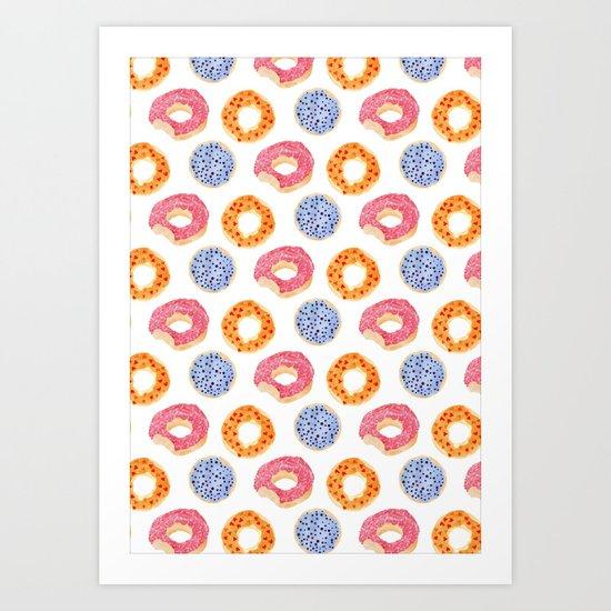 sweet things: doughnuts Art Print
