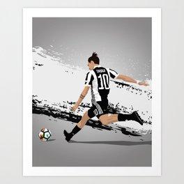Paolo Dybala Juventus Art Print