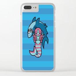 Shark Wrestler Mermaid Clear iPhone Case