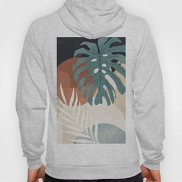 Abstract Art Tropical Leaves  Hoody