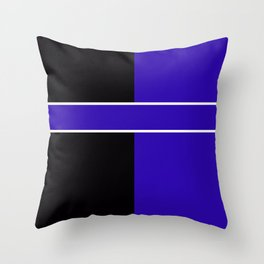 Team Colors 6...Blue,black Throw Pillow